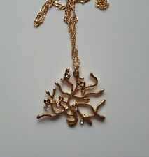 BEAUTY and The BEAST Belle Rose Tree Necklace Pendant Cosplay Jewelry