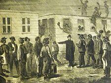 Hillen Black Americana NEGRO RECRUITS for MURFREESBORO 1864 Civil War Art Matted