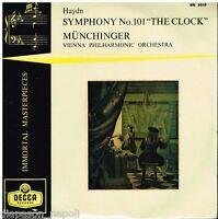 "Haydn : Symphonie (Symphonie) N.101 / Munchinger, Vienne - LP 10 "" Decca Br 3019"