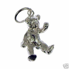 Silver Bear Charm 925 Sterling 1.7g Sitting 3D Solid Animal Charms