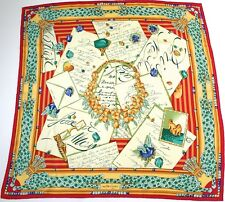 Must de Cartier vintage silk scarf - Panther Jewels - Red / Yellow - Large