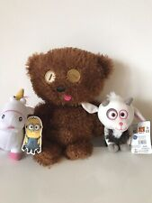 Despicable Me Limited Edition Minions Tim Bobs Bear Soft Plush Toy Goat Unicorn