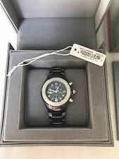Michele Tahitian Black Ceramic Diamond Watch With Box $1,995!