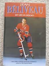 Jean Béliveau My Life in Hockey SIGNED 1994 1st Ed HC Montreal Canadiens
