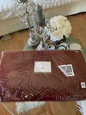 Pottery Barn Velvet Channel Quilt Full Queen Ruby Red New In Packaging