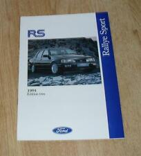 Ford RS Brochure 1991 Ed 2 - Fiesta RS Turbo & Sierra Sapphire RS Cosworth 4X4