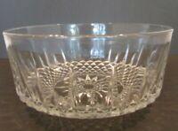 Vintage Glass Bowl Starburst Crystal Cut