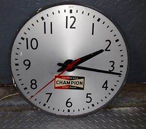 Champion Spark Plugs 1970's Dealer Display Wall Clock