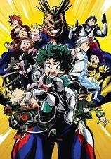 My Hero Academia - Hight School Fight Japan Anime Art Silk Poster 24x36inch
