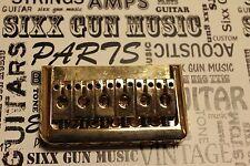 SGM Hardtail GOLD Guitar bridge, String through for Fender Strat Charvel Jackson