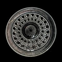 Platter Crystal Serving Plate Tray Starburst Bottom