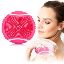 Electric Silicone LED Body Wash Cleansing Brush Vibrating Massager Bath Machine