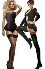 """Sensuous Lace Top Hold-ups """" Erotica """" 40 and 60 and 15 Den Denier New"""