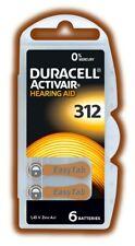 72 x Duracell Activair 312 PR41 Hörgerätebatterien knopfzelle Blister Batterien