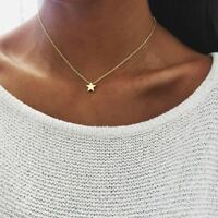Women chocker gold Silver Chain star heart choker Necklace Jewelry collana Bijou