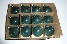 12 Vintage Christmas Tree Glass Ball Ornaments Ww Ii Wwii Era Unsilvered Blue