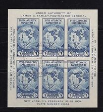 US National Stamp Expo Sheet - James A. Farley, Byrd Expedition used 735 735a