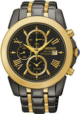 NEW Seiko 'Le Grand Sport' Men's Solar Alarm Chronograph Watch SSC218P