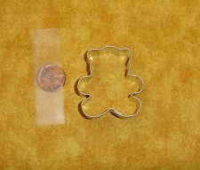 "Teddy Bear,Mini Cookie Cutter,Sturdy Metal,2"",OTBP,Baby Shower,Toy,Fondant"