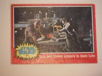 Star Wars Series 2 (Red) Topps 1977 Trading Card # 91 Solo & Chewie Prepare To