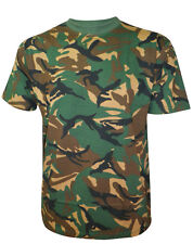 NEW GREEN HUNTING TOP CAMOUFLAGE MENS ARMY MILITARY PRINT B&W T SHIRT SIZE - 5XL
