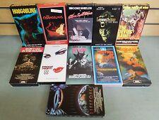 Lot of 11 VHS Movies Hobgoblins Fright Night II Sisters Death Leprechaun (DH879)