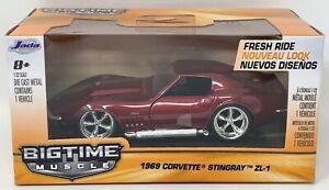 Jada BigTime Muscle 1969 Chevy Corvette Stingray ZL-1 Die-Cast 1:32 Car