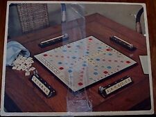 Vintage 1954 mini Scrabble Game Selchow & Righter Complete 100 Small wood tiles