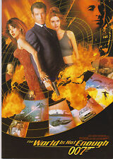 JAMES BOND THE WORLD IS NOT ENOUGH BRITISH 4 PAGE SCREENING PROGRAM