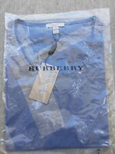 BURBERRY BRIT TOP SWEATER. Large. Steel Blue and light grey.