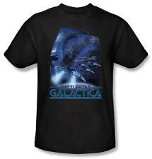 Classic Battlestar Galactica Tv Series Cylon Attack T-Shirt, New Unworn