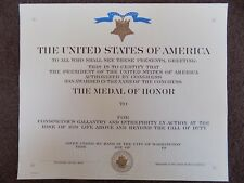 GENUINE US NAVY MEDAL OF HONOR CERTIFICATE -  LARGER WW2 / KOREA TYPE GREAT COND