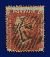 1855 SG21 1d Red-Brown C4(1) Misperf London Good Used Cat £ cvhc