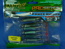 6pz Rapture Power Minnow varie misure pesca spinning, casting, fiume, lago, mare
