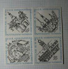 Germany OPHILA 1961 Castles Cathedrals Philatelic Souvenir Ad Label