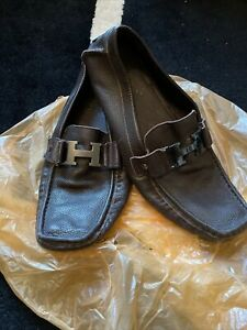 mens brown leather loafers 9