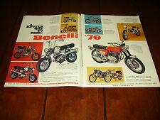1970 BENELLI  TORNADO COBRA COUGAR DYNAMO TRAIL SS - ORIGINAL 2 PAGE AD