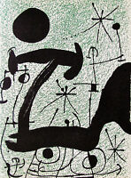 MIRO - MAGICAL T - ORIGINAL LITHOGRAPH - 1967 - FREE SHIPPING IN THE US !!!