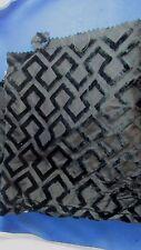 ancien coupon tissus  soierie et velours epoque art deco antique fabric noir 15
