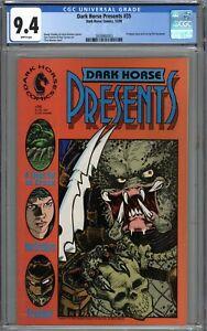 Dark Horse Presents #35 CGC 9.4 NM Predator Story WHITE PAGES