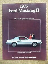 1975 Ford Mustang II Brochure, Dealer Sales-Showroom