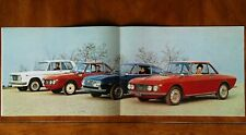 Lancia Fulvia range brochure Prospekt, 1968 (French or German text)