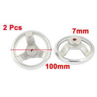"Pair 100mm/ 4"" Dia 3-Spoke Round Iron Hand Wheel for Milling Machine Lathe Newly"