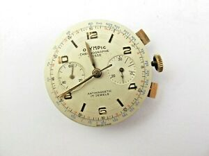 Chronographe Suisse Uhrwerk OLYMPIC SILVER  Mechanisch
