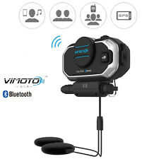 Vimoto V8 Helmet Bluetooth Headset Motorcycle Headphones For GPS Two Way Radios