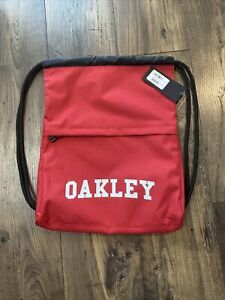 NEW Canvas Oakley Satchel College Bag Red And White