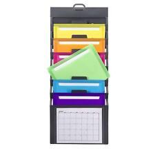 Wall Mount File Holder Organizer Office Folder Hanging Letter Storage 6 Pocket