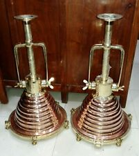 nautical marine ship new ceiling spot light copper and brass lot of 2 pieces