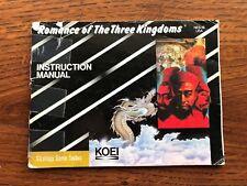 Romance of the Three Kingdoms NES Nintendo Instruction Manual Only