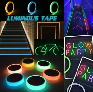Glow In The Dark Sticky Tape Self Adhesive Luminous Tape Safety Film Sticker UK